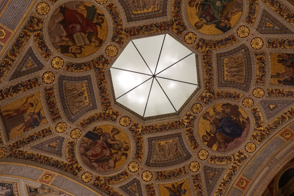 Ceiling of the Morgan Library and Museum Historical Research