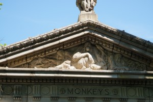 Cornices and Statuary found on the Primate Building, Bronx Zoo