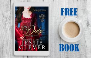 Social media ad graphics for a Regency romance free book