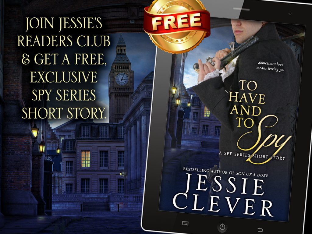 Join Jessie's Readers Club and receive an exclusive Spy Series short story.